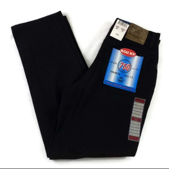 Bugle Boy Other - Bugle Boy 750 Relaxed Let Easy Fit Black Jeans